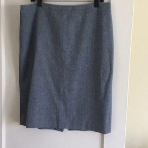 J. Crew wool no.2 pencil skirt 14 blue herringbone
